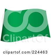 Royalty Free RF Clipart Illustration Of A Wavy Blank Green Flag
