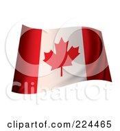 Royalty Free RF Clipart Illustration Of A Waving Canada Flag