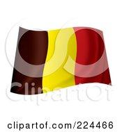Royalty Free RF Clipart Illustration Of A Waving Belgium Flag