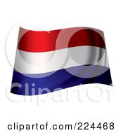 Royalty Free RF Clipart Illustration Of A Waving Holland Flag