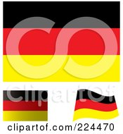 Royalty Free RF Clipart Illustration Of A Digital Collage Of Flat Shaded And Waving German Flags