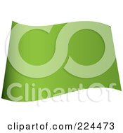 Royalty Free RF Clipart Illustration Of A Wavy Blank Light Green Flag