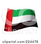 Royalty Free RF Clipart Illustration Of A Waving United Arab Emirates Flag