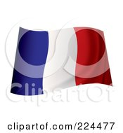 Royalty Free RF Clipart Illustration Of A Waving France Flag