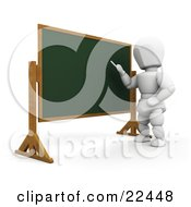 Clipart Illustration Of A White Character Standing In Front Of A Chalkboard And Teaching A Class by KJ Pargeter