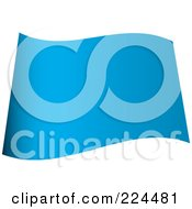 Royalty Free RF Clipart Illustration Of A Wavy Blank Blue Flag