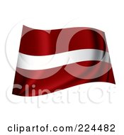 Royalty Free RF Clipart Illustration Of A Waving Latvia Flag