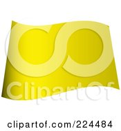 Royalty Free RF Clipart Illustration Of A Wavy Blank Yellow Flag