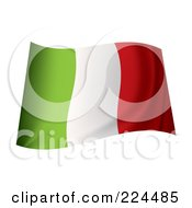 Royalty Free RF Clipart Illustration Of A Waving Italy Flag