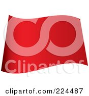 Royalty Free RF Clipart Illustration Of A Wavy Blank Red Flag