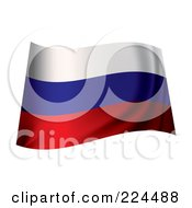 Royalty Free RF Clipart Illustration Of A Waving Russia Flag