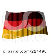 Royalty Free RF Clipart Illustration Of A Waving German Flag