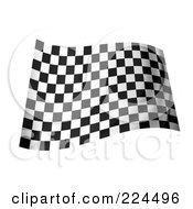 Royalty Free RF Clipart Illustration Of A Waving Black And White Checkered Flag