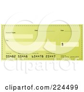 Royalty Free RF Clipart Illustration Of A Greenish Bank Check by michaeltravers