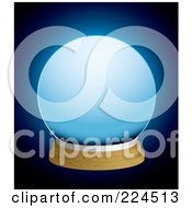 Royalty Free RF Clipart Illustration Of A Glowing Blue Crystal Ball On Blue