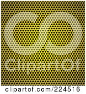 Royalty Free RF Clipart Illustration Of A Golden Circle Metal Grill Background Texture by michaeltravers