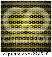 Royalty Free RF Clipart Illustration Of A Golden Slotted Metal Grill Background Texture by michaeltravers