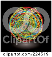 Royalty Free RF Clipart Illustration Of A Ball Of Colorful Bands