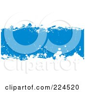 Royalty Free RF Clipart Illustration Of A Blue And White Grunge Background by michaeltravers