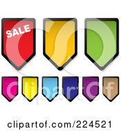 Royalty Free RF Clipart Illustration Of A Digital Collage Of Colorful Price Tag Icons by michaeltravers