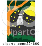 Royalty Free RF Clipart Illustration Of A Ghost Hanging From A Noose In A Tree