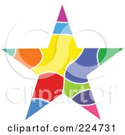 Royalty Free RF Clipart Illustration Of A Colorful Star by Prawny