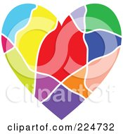 Royalty Free RF Clipart Illustration Of A Colorful Heart by Prawny