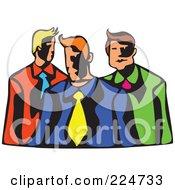 Royalty Free RF Clipart Illustration Of Whimsy Businessmen