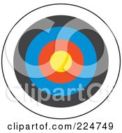 Royalty Free RF Clipart Illustration Of A Colorful Dart Board by Prawny
