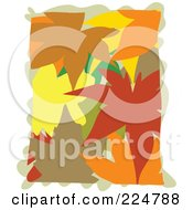Royalty Free RF Clipart Illustration Of Colorful Autumn Leaves Piled by Prawny