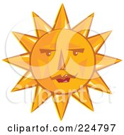 Orange Sun Face