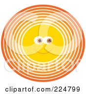 Royalty Free RF Clipart Illustration Of A Happy Circular Sun Face