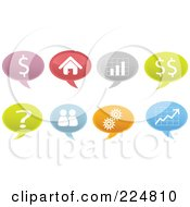 Royalty Free RF Clipart Illustration Of A Digital Collage Of Business Speech Balloons by Qiun