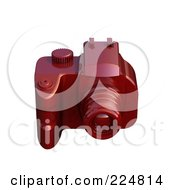 Royalty Free RF Clipart Illustration Of A 3d Red Dslr Camera