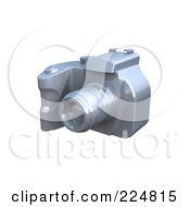 Royalty Free RF Clipart Illustration Of A 3d Silver Dslr Camera 3