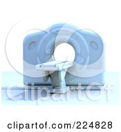 Royalty Free RF Clipart Illustration Of A 3d Cat Scan Machine 2