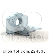 Royalty Free RF Clipart Illustration Of A 3d Cat Scan Machine 5
