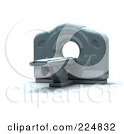 Royalty Free RF Clipart Illustration Of A 3d Cat Scan Machine 1