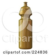 Royalty Free RF Clipart Illustration Of A 3d Rendered Gold Water Bottle by patrimonio