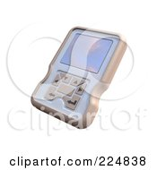 Royalty Free RF Clipart Illustration Of A 3d Engine Analyzer Or Cell Phone 5