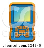 Royalty Free RF Clipart Illustration Of A 3d Engine Analyzer Or Cell Phone 1 by patrimonio