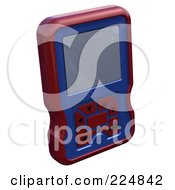 Royalty Free RF Clipart Illustration Of A 3d Engine Analyzer Or Cell Phone 8