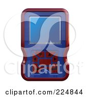 Royalty Free RF Clipart Illustration Of A 3d Engine Analyzer Or Cell Phone 2