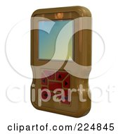 Royalty Free RF Clipart Illustration Of A 3d Engine Analyzer Or Cell Phone 7