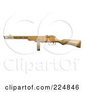 Royalty Free RF Clipart Illustration Of A 3d Submachine Gun 3