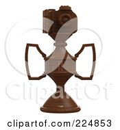Royalty Free RF Clipart Illustration Of A 3d Camera Trophy 4