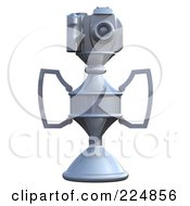 Royalty Free RF Clipart Illustration Of A 3d Camera Trophy 6