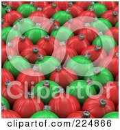 Background Of Red And Green Christmas Balls