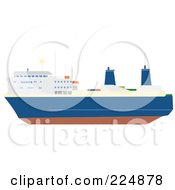 Royalty Free RF Clipart Illustration Of A Ferry Boat by Prawny