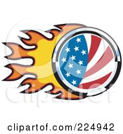 Flaming American Flag Logo